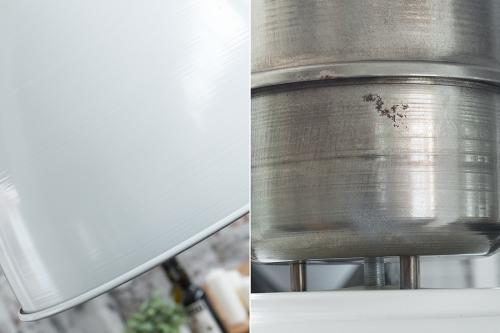 Fabryka lamp wiszących L 40cm biały srebrny