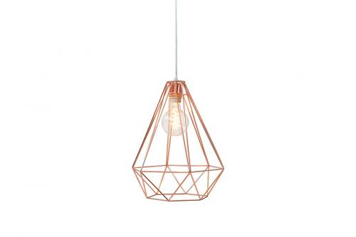 Lampa wisząca Cage L miedź 37713