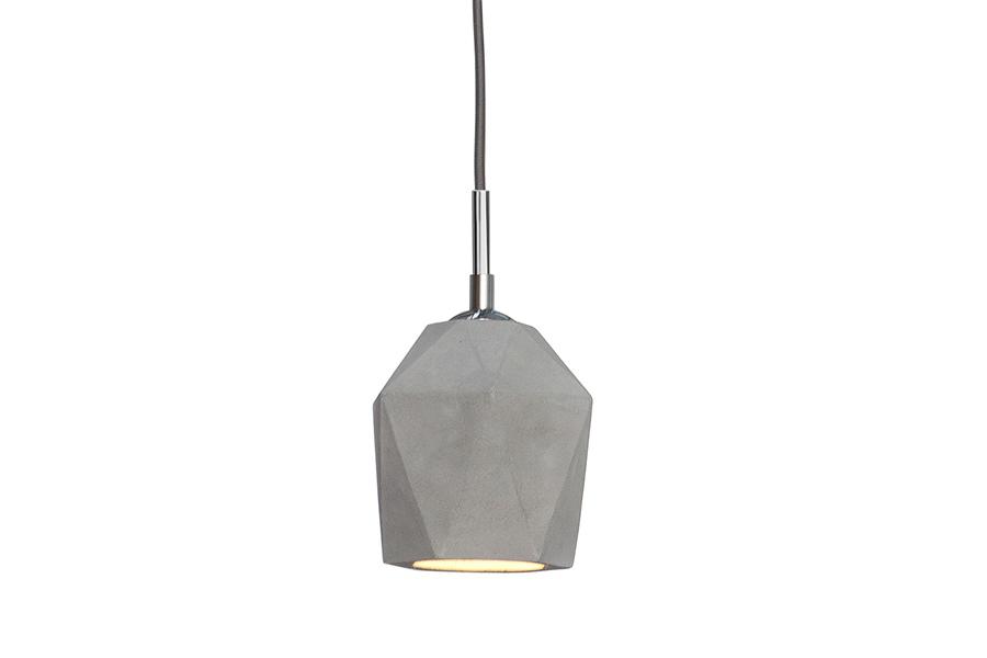 Lampa wisząca Cement Prisma szara 15cm beton