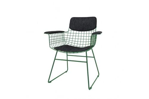Zestaw COMFORT czarny do krzesła metalowego WIRE z podłokietnikami