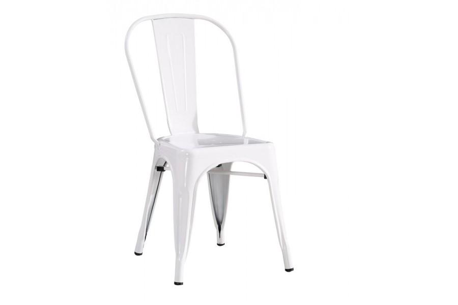 Metalowe krzesło LOFT PARIS białe inspirowane Tolix