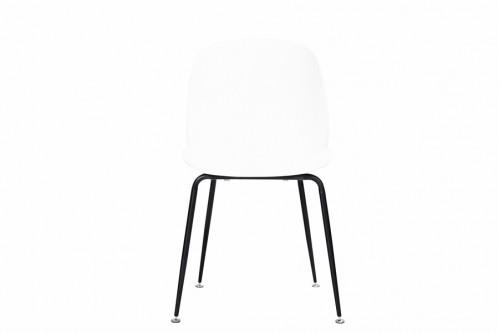 Krzesło 4 sztuki INGO białe metalowe nogi czarne mat - 400zł za komplet 4szt !