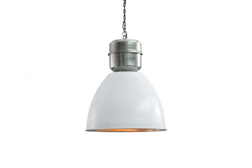 Lampa wisząca L 40cm biało-srebrna 37486