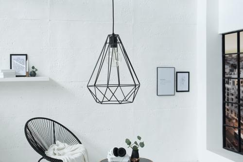 Lampa wisząca Cage L czarna 37714