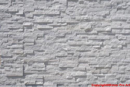 Kamień elewacyjny kwarcyt FROZEN ICE 15x55x1.5-2.5cm biały