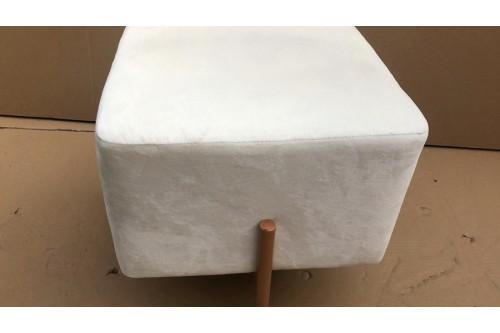 Puf COPPER LOFT 42X42X35cm velvet biały