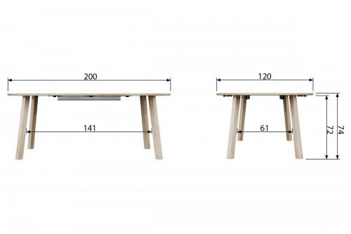 Stół rozsuwany Lange okrągły [fsc]