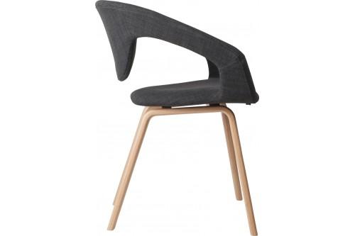 Fotel FLEXBACK naturalny/ciemny szary