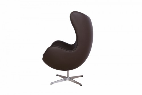 Fotel JAJO skóra brązowa inspirowany projektem Egg Chair Arne Jakobsena