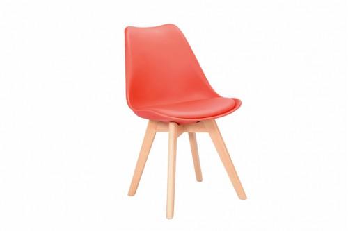 Krzesło 4 sztuki SKANDI czerwone z wygodnym siedziskiem - 259zł za komplet 4szt !