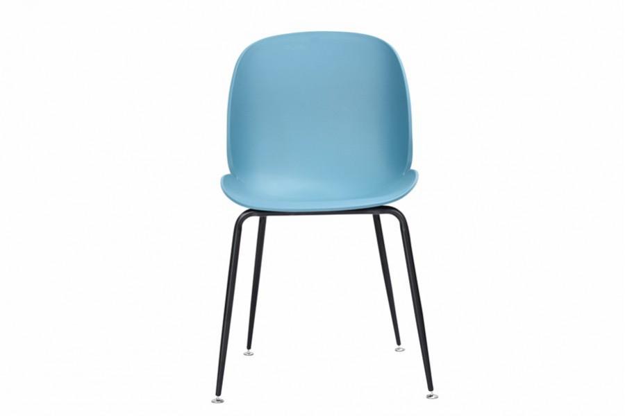 Krzesło 4 sztuki INGO turkus metalowe nogi czarne mat - 400zł za komplet 4szt