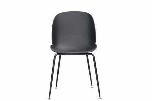 Krzesło 4 sztuki INGO czarne metalowe nogi czarne mat - 400zł za komplet