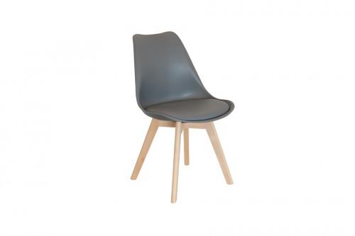 Krzesło SKANDI szare z wygodnym siedziskiem