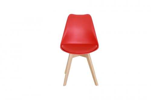 Krzesło SKANDI czerwone z wygodnym siedziskiem