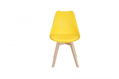 Krzesło SKANDI żółte z wygodnym siedziskiem