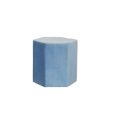Puf sześciokąt 44X40X42CM velvet niebieski