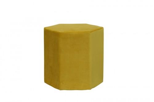 Puf sześciokąt 44X40X42CM velvet yellow