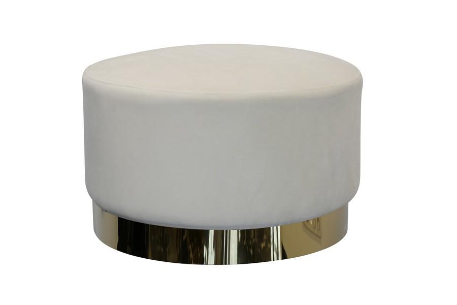Puf TOBY 65X65X40cm velvet biały