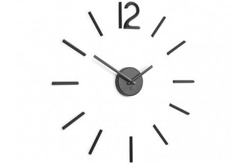 Zegar ścienny, czarny, Blink