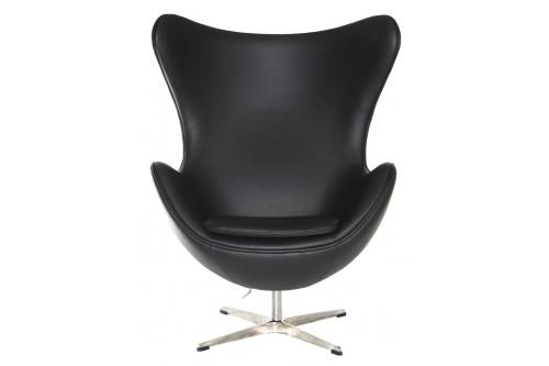 Fotel Jajo czarna skóra 06...