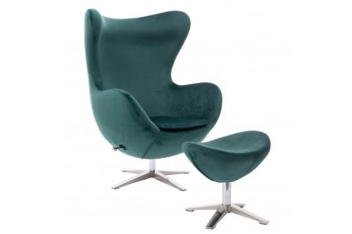 Fotel Jajo Velvet zielony...