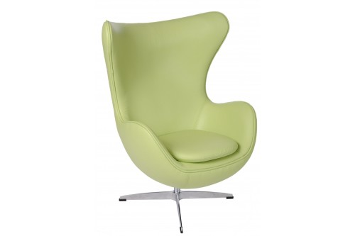 Fotel Jajo zielona skóra 10...