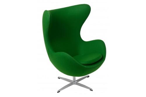 Fotel Jajo zielony kaszmir...