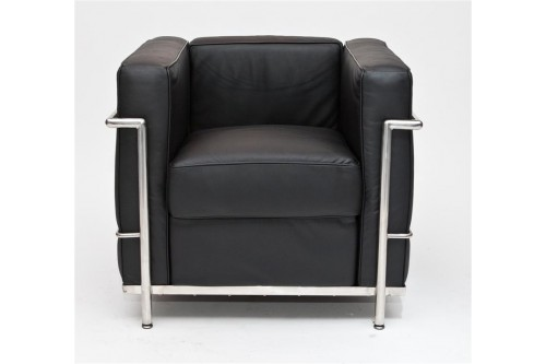 Fotel Kubik czarna skóra TP
