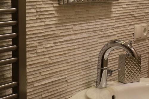 Kamień elewacyjny kwarcyt BIANCO CALABRIA 15x55x1.5-2cm biały